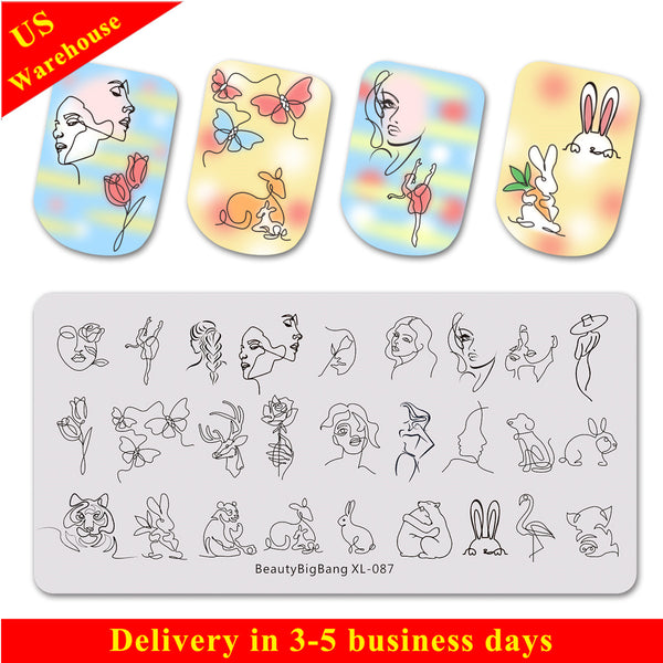 Flower Animal Pattern Nail Stamping Plate BBBXL-087(US Warehouse)