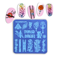 Flower Square Nail Stamping Plates BBBS-035(US Warehouse)
