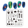 Geometric Patterns Nail Stamping Plates BBBS-037(US Warehouse)