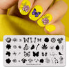 Flower Plants Leaves Nail Art Stamping Plates BBBXL-095(US Warehouse)