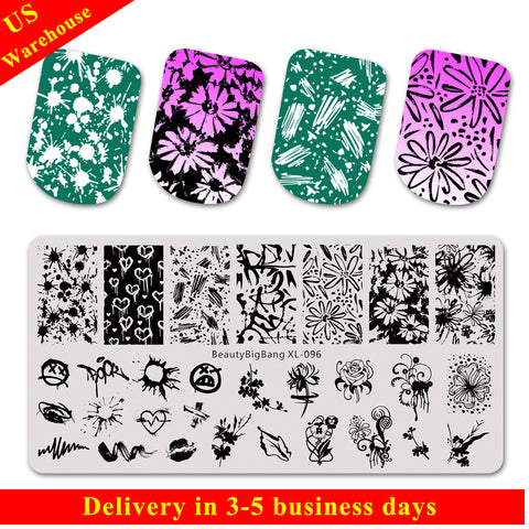 Flower Leaf Theme Nail Art Stamping Plate BBBXL-096(US Warehouse)
