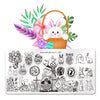 Easter Day Rabbit Nail Art Stamping Plate BBBXL-103(US Warehouse)