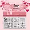 Valentine's Day Themed Nail Printed Steel Plate BEAUTYBIGBANG BBBXL-104(US Warehouse)