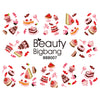 Chocolate Cake Series Water Decals Transfer Nail Art Stickers BBB007