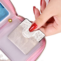 24 Slots Laser Holo Nail Stamping Plate Holder Case Round Square Rectangular Manicure Nail Art Plate Organizer