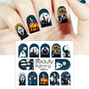 Ghost Witch Haunted House Design Water Decals Transfer Halloween Nail Art Stickers BBB012