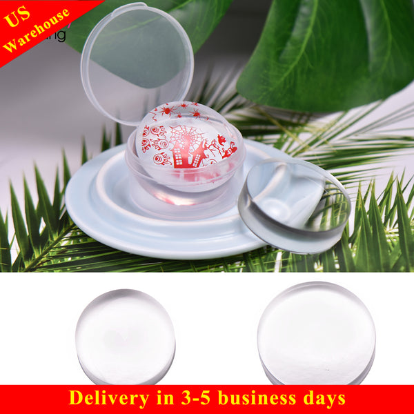 Clear Jelly Silicone Nail Stamper Replace Head Nail Stamping Tool
