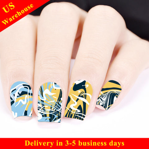 Marble Pattern Water Decals Transfer Nail Art Stickers BBB025 (US Warehouse)