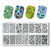 Flamingo Rectangle Nail Stamping Plate Tropical Fruits Leaves Theme Manicure Tool XL-001 (US warehouse)