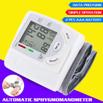 Wrist Blood Pressure Monitor-White