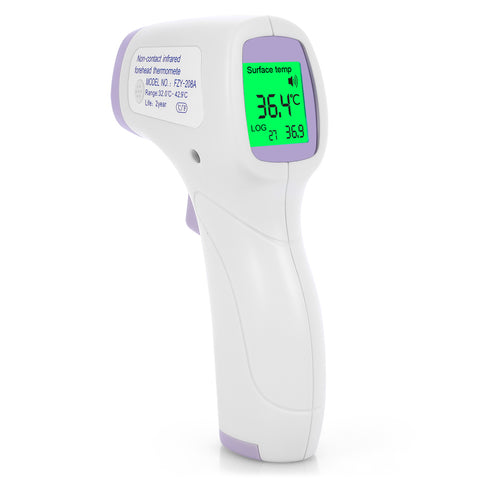 Digital Non-Contact Infrared  Forehead Thermometer-Purple