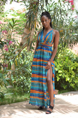 Blue Meulfeu Wrap Dress