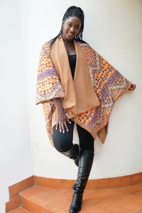 Jada Reversible Wool Poncho