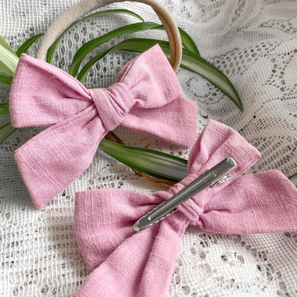 Locally and ethically handmade bows from Little BOW Peeps Boutique in Kitchener, Ontario