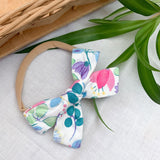 floral headband baby bow for toddlers and infants, locally handmade