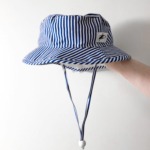 "Blue Striped ""Camp"" Hat"