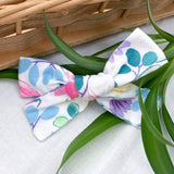Floral bow headband or clip locally handmade for baby toddler and infant
