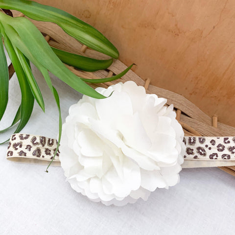 Leopard Flower Headband