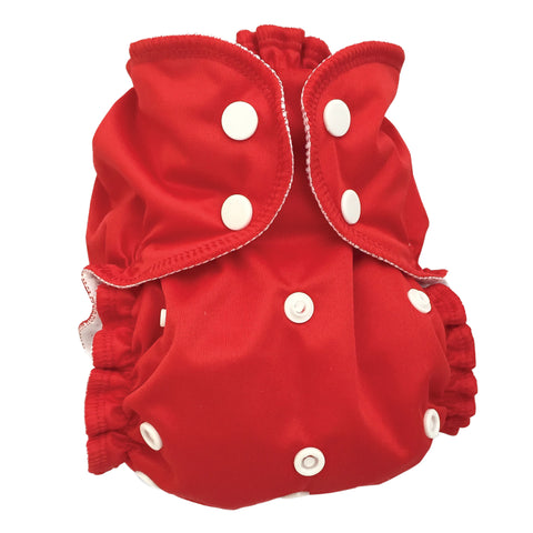 One Size Cloth Diaper Cover - Cherry Tomato