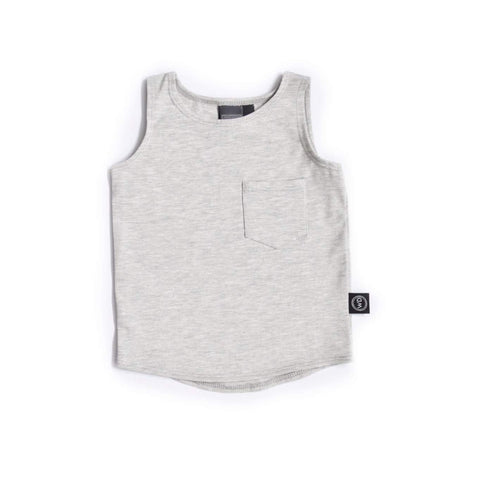 Asher Grey Pocket Tank 12m-2T