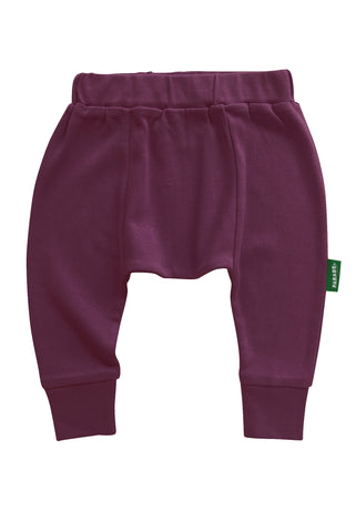Wine Harem Pants 0-6m