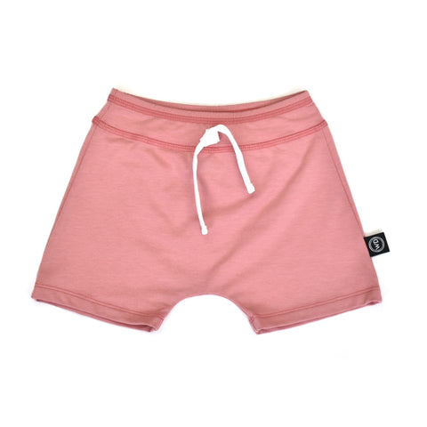 Baby and toddler girl pink summer shorts. Handmade in canada