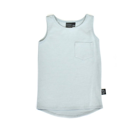 Baby and toddler Boys made-in-Canada light blue pocket tank top
