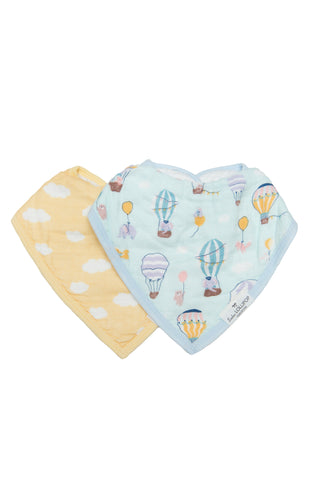 Gender neutral baby drool bibs for baby showers. Made from eco friendly bamboo muslin rayon