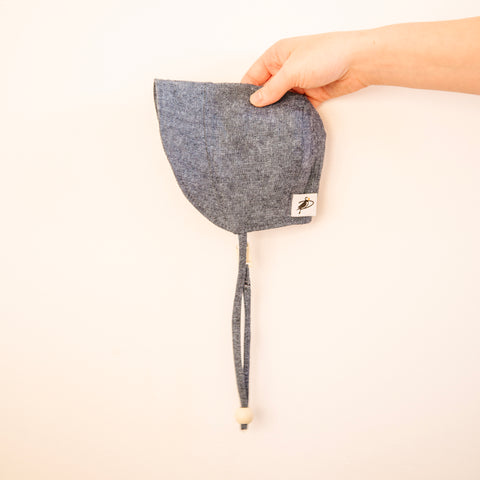 Denim Tweed Bonnet 0-24m