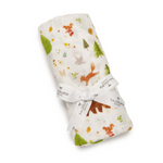 The eco friendly swaddle comes wrapped nicely and tied with a bow
