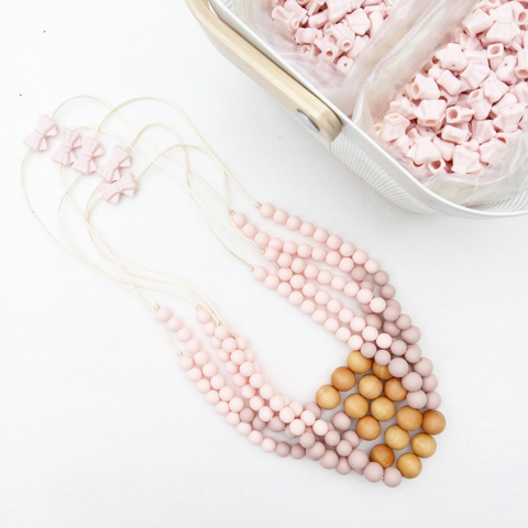 Pink-Rose Teething Necklace