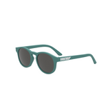 Deep bluish - green baby and toddler sunglasses featuring the Babiator logo on the sides
