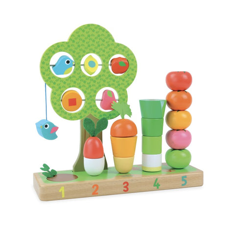Wooden vegetable counting game for 18m +