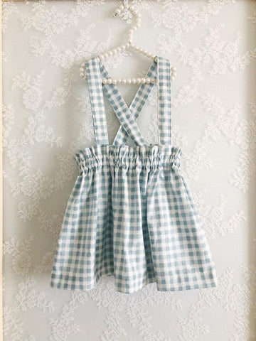 Gingham Suspender Skirt