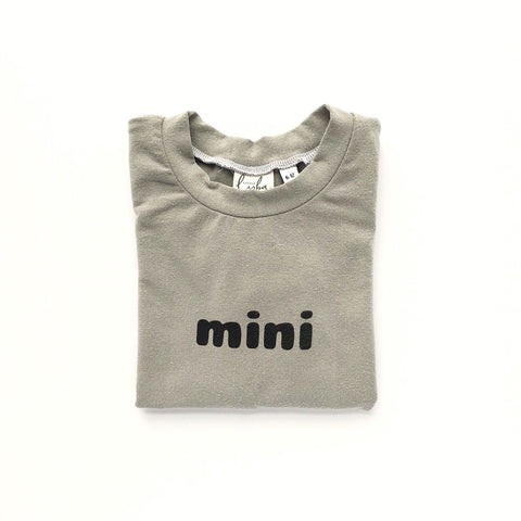 Mini Tee 3m-3T (pink or grey)