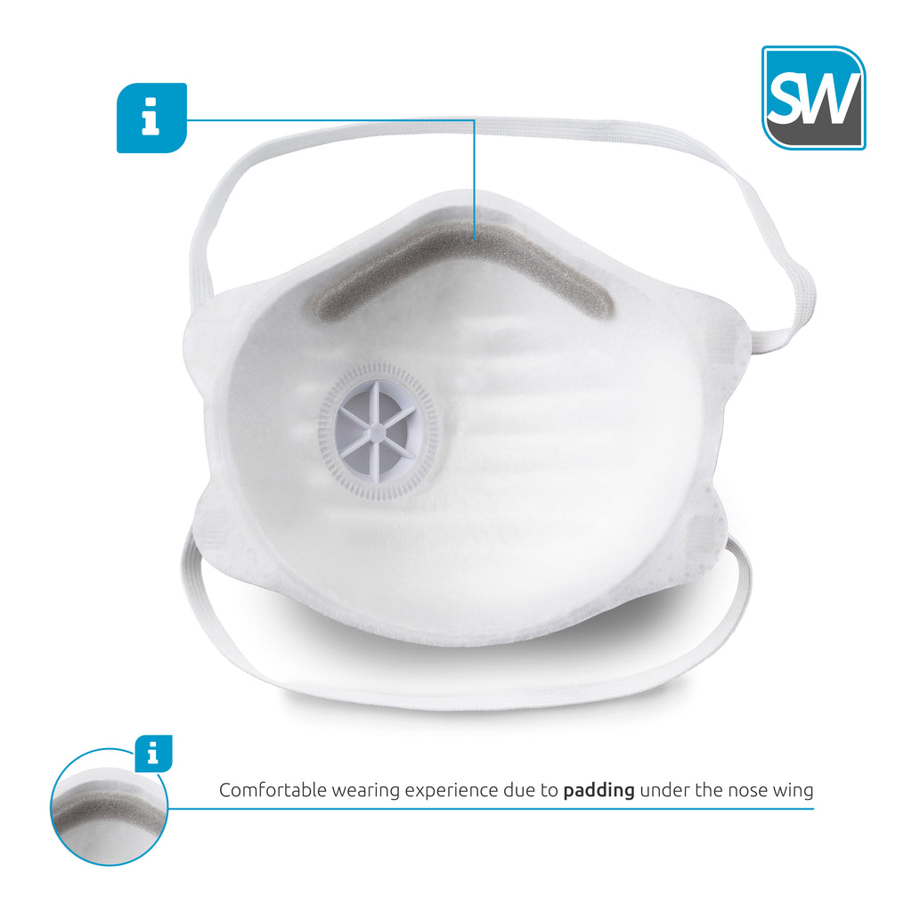 N95 Face Mask NIOSH Approved - Premium Quality In Stock USA  1 box of 10 masks