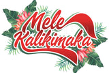 Mele Kalikimaka Tropical Leaves