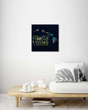 Map of Hawaii Tropical Plants Pattern - Wood Print