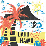 Oahu Hawaii Retro Style