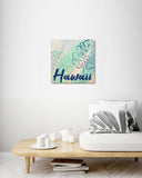 Monstera Leaf Hawaiian Design - Wood Print