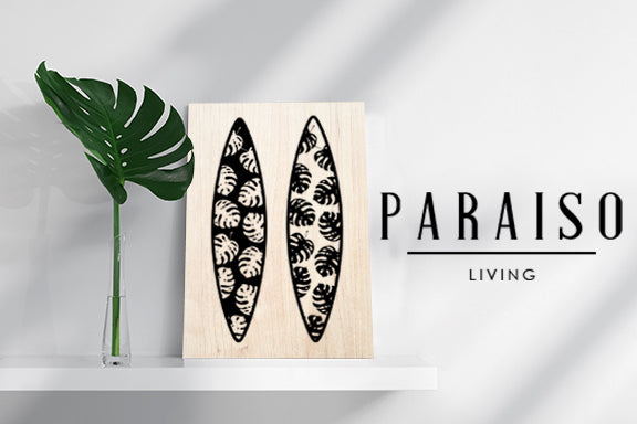 2 Surfboards Monstera Silhouette