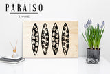 4 Surfboards Monstera Silhouette
