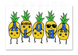 Cute Pineapples Aloha Blue