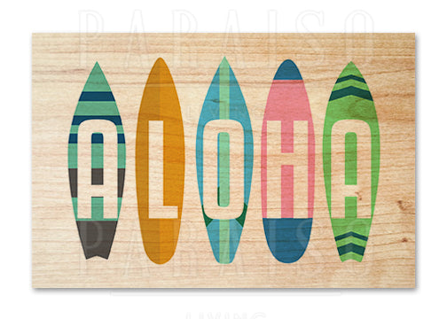 Retro Surfboards Aloha