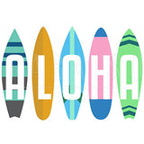 Retro Surfboards - Wood Print 7 x 7