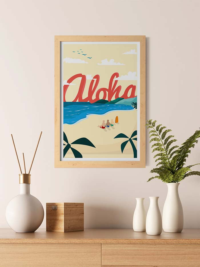 Aloha Beach Travel Print