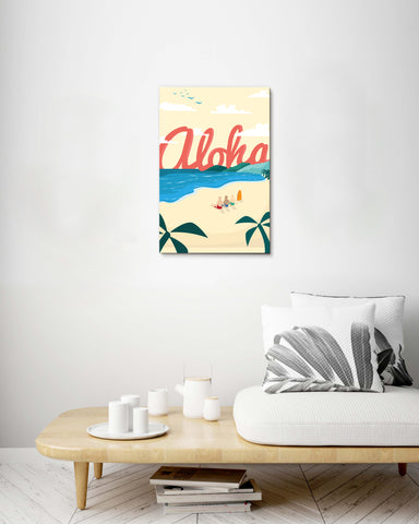 Aloha Beach Stretch Canvas
