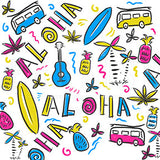 Aloha Hawaiian Elements Summer Design - Wood Print