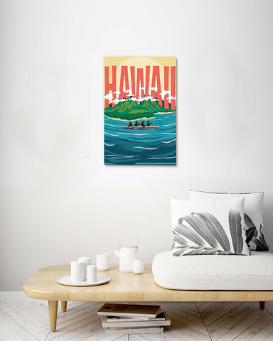 Hawaiian Island Stretch Canvas