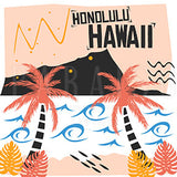 Honolulu Hawaii Retro Style